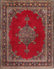 Keshan Rug 315X410 Authentic  Oriental Handknotted Crimson Red/Dark Red Large (Wool, Persia/Iran)
