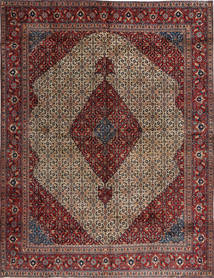 Moud Rug 295X384 Authentic  Oriental Handknotted Brown/Light Brown Large (Wool/Silk, Persia/Iran)