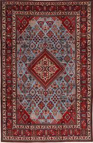 Meimeh Matto 233X341 Itämainen Käsinsolmittu Tummanpunainen/Tummanruskea (Villa, Persia/Iran)