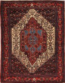 Senneh Szőnyeg 123X165 Keleti Csomózású Sötétpiros/Sötétbarna (Gyapjú, Perzsia/Irán)