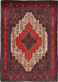 Senneh Matta 127X178 Äkta Orientalisk Handknuten Mörkröd/Brun (Ull, Persien/Iran)
