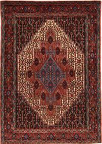 Senneh Teppe 117X167 Ekte Orientalsk Håndknyttet Mørk Rød/Lysbrun (Ull, Persia/Iran)