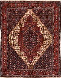 Senneh Teppe 120X155 Ekte Orientalsk Håndknyttet Mørk Rød/Mørk Brun (Ull, Persia/Iran)