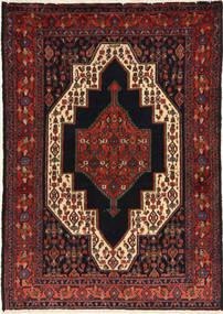 Senneh Matto 117X164 Itämainen Käsinsolmittu Tummanpunainen (Villa, Persia/Iran)