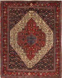 Senneh Matto 118X158 Itämainen Käsinsolmittu Tummanpunainen/Tummanruskea (Villa, Persia/Iran)