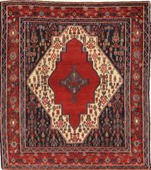 Senneh Tappeto 122X135 Orientale Fatto A Mano Rosso Scuro/Marrone/Ruggine/Rosso (Lana, Persia/Iran)