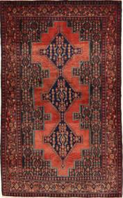 Senneh Tapijt 113X198 Echt Oosters Handgeknoopt Donkerrood/Bruin (Wol, Perzië/Iran)