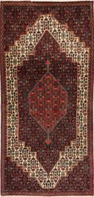 Senneh Matto 108X215 Itämainen Käsinsolmittu Tummanpunainen/Vaaleanruskea (Villa, Persia/Iran)