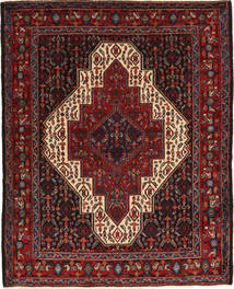 Senneh Rug 120X154 Authentic  Oriental Handknotted Dark Red/Black (Wool, Persia/Iran)