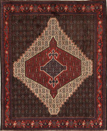 Senneh Rug 120X145 Authentic  Oriental Handknotted Dark Red (Wool, Persia/Iran)