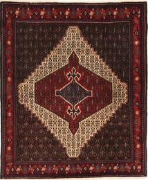 Senneh Tappeto 118X144 Orientale Fatto A Mano Marrone Scuro/Rosso Scuro (Lana, Persia/Iran)