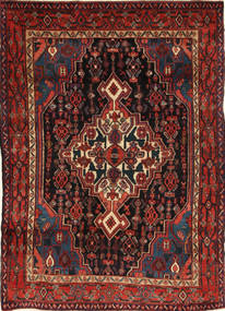 Senneh Rug 117X170 Authentic Oriental Handknotted Dark Red/Black (Wool, Persia/Iran)