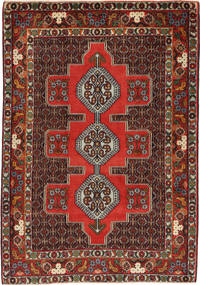 Senneh Rug 120X170 Authentic  Oriental Handknotted Dark Red/Light Brown (Wool, Persia/Iran)