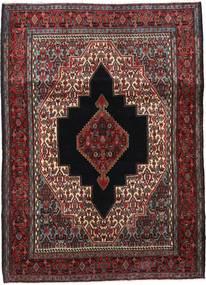 Senneh Tæppe 120X168 Ægte Orientalsk Håndknyttet Mørkerød/Mørkebrun (Uld, Persien/Iran)