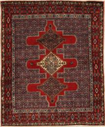 センネ 絨毯 122X150 オリエンタル 手織り 深紅色の/濃い茶色 (ウール, ペルシャ/イラン)