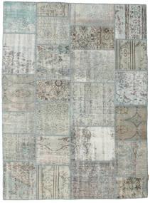 Patchwork Matto 171X232 Moderni Käsinsolmittu Vaaleanharmaa/Tummanharmaa (Villa, Turkki)