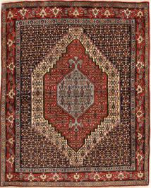 Senneh Rug 120X150 Authentic  Oriental Handknotted Dark Red/Dark Brown (Wool, Persia/Iran)