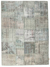 Patchwork Rug 172X231 Authentic  Modern Handknotted Light Grey/Dark Grey (Wool, Turkey)