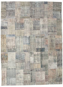 Patchwork Rug 256X351 Authentic  Modern Handknotted Light Grey Large (Wool, Turkey)