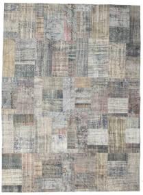 パッチワーク 絨毯 255X351 モダン 手織り 薄い灰色/濃いグレー 大きな (ウール, トルコ)