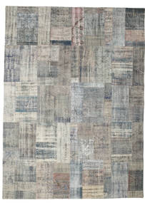 Patchwork Rug 256X351 Authentic  Modern Handknotted Light Grey/Dark Grey Large (Wool, Turkey)