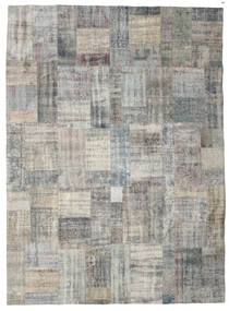 Patchwork Rug 256X350 Authentic  Modern Handknotted Light Grey/Dark Grey Large (Wool, Turkey)