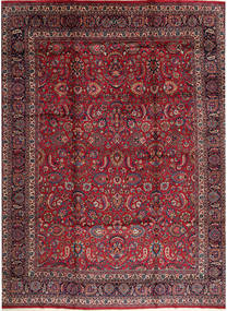 Rashad Signert: Ghazi Khan Teppe 365X470 Ekte Orientalsk Håndknyttet Mørk Rød/Mørk Brun Stort (Ull, Persia/Iran)