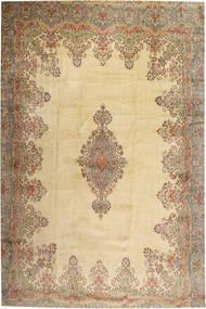 Kerman Dywan 405X605 Orientalny Tkany Ręcznie Jasnobrązowy/Ciemnobeżowy Duży (Wełna, Persja/Iran)
