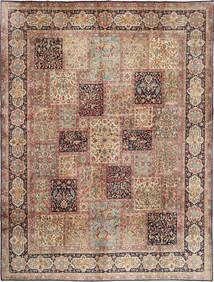 Kerman Matto 300X398 Itämainen Käsinsolmittu Vaaleanruskea/Ruskea Isot (Villa, Persia/Iran)