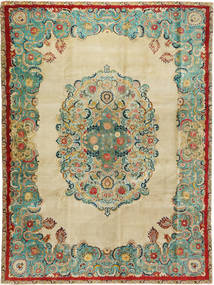 Tabriz Patina Rug 300X400 Authentic Oriental Handknotted Dark Beige/Pastel Green Large (Wool, Persia/Iran)