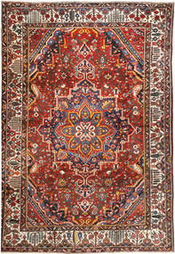 Bakhtiar Matta 335X470 Äkta Orientalisk Handknuten Mörkröd/Mörkbrun Stor (Ull, Persien/Iran)