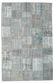 Patchwork Rug 198X300 Authentic  Modern Handknotted Light Grey/Light Blue (Wool, Turkey)