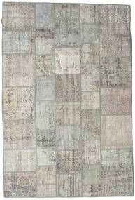 Patchwork Rug 200X300 Authentic  Modern Handknotted Light Grey (Wool, Turkey)