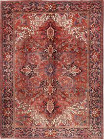 Heriz Alfombra 292X383 Oriental Hecha A Mano Marrón/Rojo Oscuro Grande (Lana, Persia/Irán)