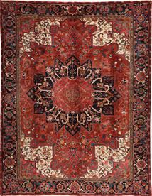 Heriz Matta 295X380 Äkta Orientalisk Handknuten Mörkröd/Svart Stor (Ull, Persien/Iran)