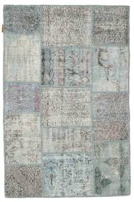 Patchwork Rug 100X151 Authentic  Modern Handknotted Light Grey (Wool, Turkey)