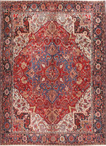 Heriz Rug 298X414 Authentic  Oriental Handknotted Brown/Dark Red Large (Wool, Persia/Iran)
