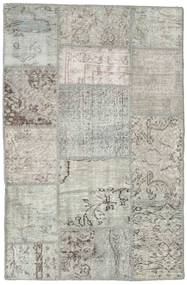 Patchwork Rug 98X152 Authentic  Modern Handknotted Light Grey (Wool, Turkey)