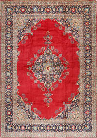 Keshan Rug 327X475 Authentic  Oriental Handknotted Rust Red/Crimson Red Large (Wool, Persia/Iran)