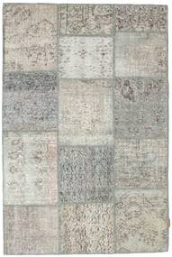 Patchwork Rug 119X181 Authentic  Modern Handknotted Light Grey/Dark Beige (Wool, Turkey)