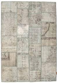 Patchwork Rug 139X201 Authentic  Modern Handknotted Light Grey/Dark Beige (Wool, Turkey)