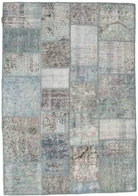 Patchwork Rug 138X200 Authentic  Modern Handknotted Light Grey/Dark Grey (Wool, Turkey)