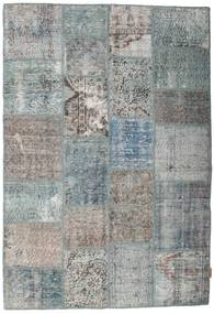 Patchwork Rug 139X203 Authentic  Modern Handknotted Dark Grey/Light Grey (Wool, Turkey)