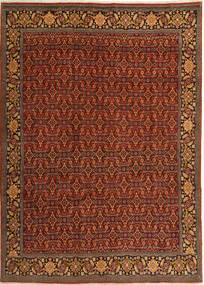 Zanjan Matta 200X280 Äkta Orientalisk Handknuten Mörkbrun/Mörkröd (Ull, Persien/Iran)