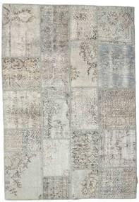 パッチワーク 絨毯 140X201 モダン 手織り 薄い灰色/暗めのベージュ色の (ウール, トルコ)