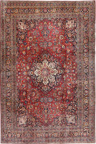 Keshan Rug 233X356 Authentic  Oriental Handknotted Light Brown/Dark Blue (Wool, Persia/Iran)