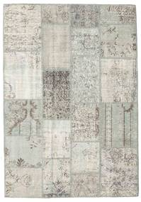 Patchwork Rug 140X201 Authentic  Modern Handknotted Light Grey/Dark Beige (Wool, Turkey)