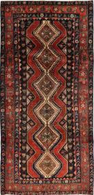 Shiraz Tæppe 145X302 Ægte Orientalsk Håndknyttet Sort/Mørkerød (Uld, Persien/Iran)