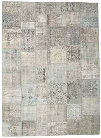 パッチワーク 絨毯 267X370 モダン 手織り 薄い灰色/暗めのベージュ色の 大きな (ウール, トルコ)