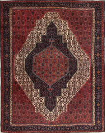 Senneh Rug 230X310 Authentic Oriental Handknotted Dark Red/Black (Wool, Persia/Iran)